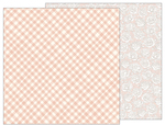 Painted Gingham Paper - Heart Of Home - Pebbles