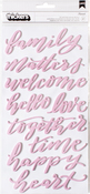 Pink Foil Foam Words - Heart Of Home - Pebbles