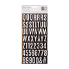 White Foil Letterboard Thickers - Heart Of Home - Pebbles