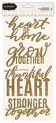 Gold Glitter Phrase Thickers - Heart Of Home - Pebbles