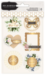 Gold Foil Dimensional Stickers - Heart Of Home - Pebbles