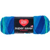 Cool Stripe - Red Heart Super Saver Yarn