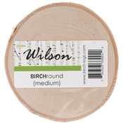 "Natural White Birch Round - Medium 4"" To 6"""
