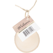 Basswood Coaster Ornament W/Twine