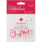 """Magical Christmas - Papermania Create Christmas Mini Clear Stamps 4""""X4"""""""