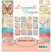 "L'Aquarelle 12 Designs/2 Each - Ultimate Crafts Double-Sided Paper Pad 6""X6"" 24/Pkg"