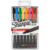 Assorted - Sharpie Fine Point Art Pen W/Hardcase 8/Pkg