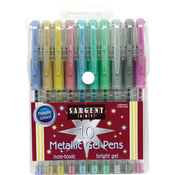 Assorted - Sargent Art Metallic Gel Pen Set 10/Pkg
