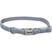 "5/8"" Silver, Neck Size 12""-18"" - Pet Attire Sparkles Adjustable Dog Collar W/Metal Buckle"