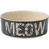 Meow - PetRageous Designs Bowl - Holds 2 Cups Petrageous Designs-Vintage Stoneware Pet Bowl: Meow, 2 Cups. Hand-crafted stoneware is dishwasher and microwave safe. Bowl is 5 inches in diameter and 2 inches deep. Imported.