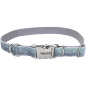 "1"" Silver, Neck Size 18""-26"" - Pet Attire Sparkles Adjustable Dog Collar W/Metal Buckle"