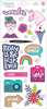 Glitter Girl Holographic Foil Accent & Phrases Stickers - Shimelle