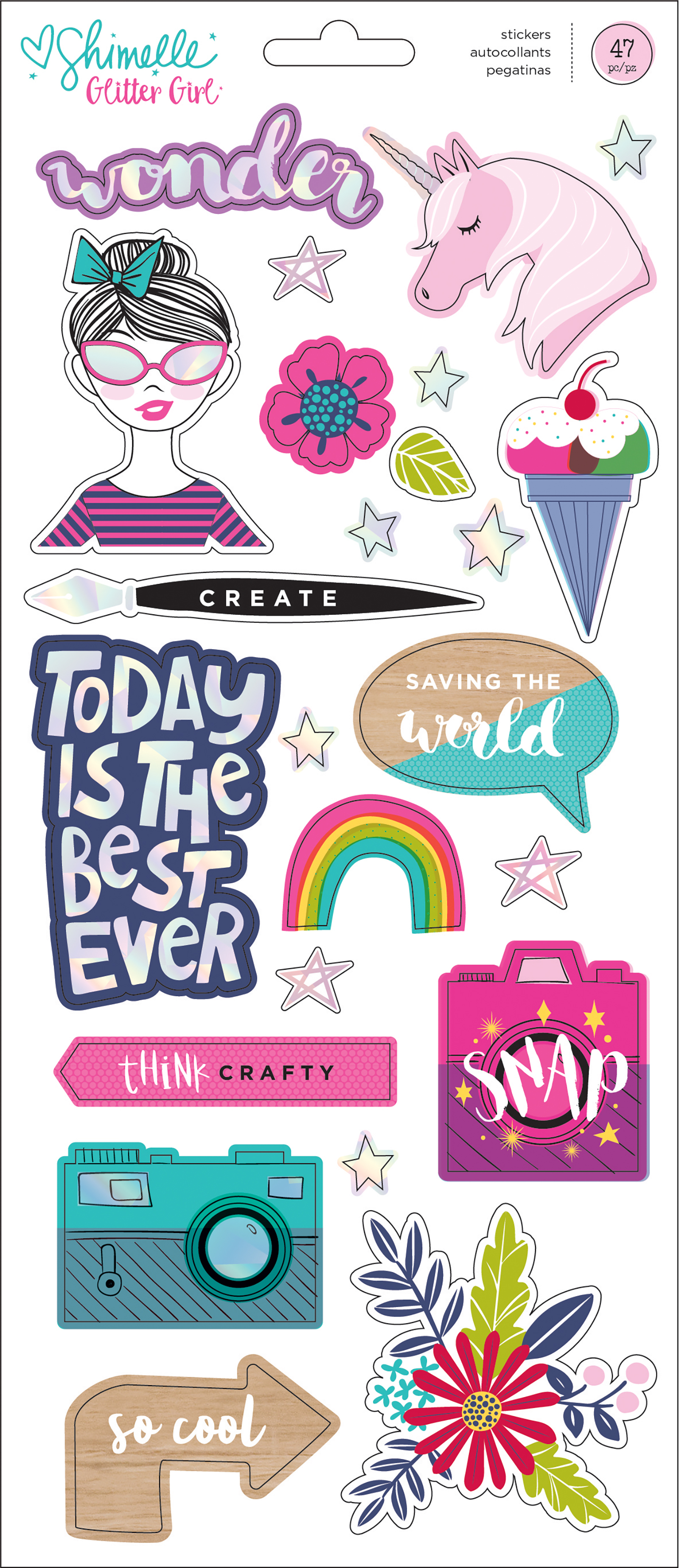 Glitter Girl Holographic Stickers