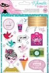 Glitter Girl Sticker & Washi Book With Folder - Shimelle