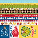 Borders & Details Paper - Baseball - Bella Blvd - PRE ORDER