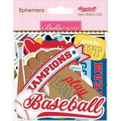 Ephemera Shapes, Tabs & Words - Baseball Paper Pieces Cardstock Die-Cuts