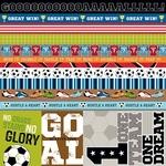 Borders & Details Paper - Soccer - Bella Blvd - PRE ORDER