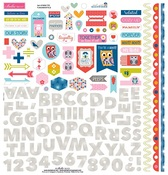 Mind Your Manners Fundamental Sticker Sheet - Bella Blvd