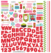Santa Stops Here Fundamental Sticker Sheet - Bella Blvd
