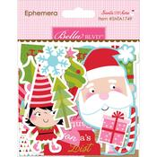 Ephemera Shapes, Tabs & Words - Santa Stops Here Paper Pieces Cardstock Die-Cuts