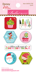 Icons - Santa Stops Here Epoxy Stickers