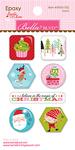 Icons - Santa Stops Here Epoxy Stickers