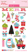 Santa Stops Here Chipboard Stickers - Bella Blvd -