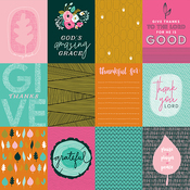 3 x 4 Jouraling Paper - Gratitude Documented - Illustrated Faith