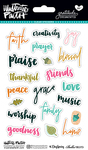 Words - Illustrated Faith Gratitude Documented Clear Stickers