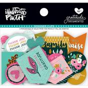 - Illustrated Faith Gratitude Documented Designer Clips 16/Pkg