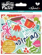 Ephemera Shapes, Tabs & Words - Illustrated Faith Advent Foiled Paper Pieces Die-Cuts