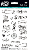 "Faith>Fear - Illustrated Faith Clear Stamps 4""X6"""