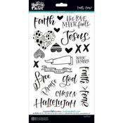 Faith > Fear Icon Chipboard Stickers - Illustrated Faith - PRE ORDER