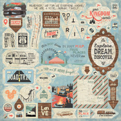 Pastime Details Sticker Sheet - Authentique