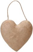 "5.5"" - Paper-Mache Puffy Heart Ornament"