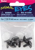 Black - Shank Back Animal Noses 18mm 6/Pkg