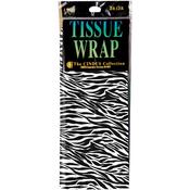 "Zebra - Tissue Gift Wrap 20""X20"" 4/Pkg"