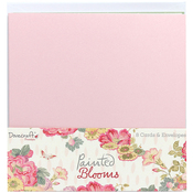"Painted Blooms - Dovecraft Cards W/Envelopes 6""X6"" 8/Pkg"