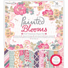 "Painted Blooms - Dovecraft Paper Pad 8""X8"" 36/Pkg"