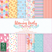 "Blooming Lovely - Dovecraft Paper Pad 6""X6"" 72/Pkg"