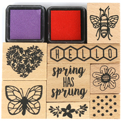 Dovecraft Blooming Lovely Wooden Stamps