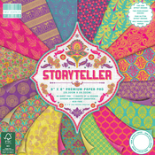 "Storyteller, 16 Designs/3 Each - First Edition Premium Paper Pad 8""X8"" 48/Pkg"