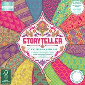 "Storyteller, 16 Designs/4 Each - First Edition Premium Paper Pad 6""X6"" 64/Pkg"