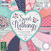 "Sweet Nothings, 16 Designs/4 Each - First Edition Premium Paper Pad 6""X6"" 64/Pkg"
