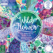 """Wild Flower, 16 Designs/3 Each - First Edition Premium Paper Pad 8""""X8"""" 48/Pkg"""