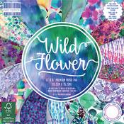 """Wild Flower, 16 Designs/4 Each - First Edition Premium Paper Pad 6""""X6"""" 64/Pkg"""