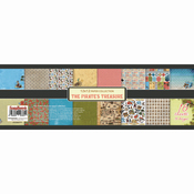 """8 Double-Sided Designs/2 Each - ScrapBerry's The Pirate's Treasure Paper Pack 12""""X12"""" 16/Pkg"""