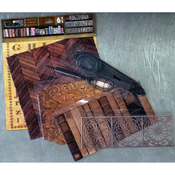 Library - 7 Gypsies Architextures Junque Adhesive Embellishments Pack