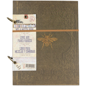 "Faux Leather W/Gold Bee, 40 Sheets - 7 Gypsies Architextures 2-Ring Mix & Match Book 8.5""X11"""