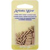 Brass 14 Gauge 50/Pkg - Artistic Wire Large Wire Crimp Connectors